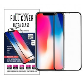 Защитное стекло для iPhone Xs Max - Happy Mobile 3D Ultra Glass Premium Curved (Asahi glass) (Anti-Dust Ver. Black)