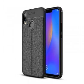 Чехол Auto Focus TPU Leather для Huawei P Smart Plus (Nova 3i) (Black)