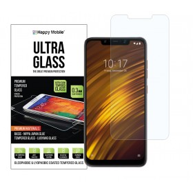 Защитное стекло для Pocophone F1 by Xiaomi - Happy Mobile 2.5D Ultra Glass Premium 0.3mm (Japan Toyo Glue)