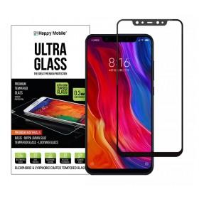 Защитное стекло 5D Happy Mobile Silk Printing (Japan Asahi) для - для Xiaomi Mi8 (Mi 8) (Черное, Full Glue)