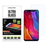 Защитное стекло Happy Mobile Ultra Glass Premium 0.3mm,2.5D (Japan Toyo Glue) для Xiaomi Mi 8 (Mi8) (Без чёлки)