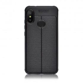 Чехол Auto Focus TPU Leather для Xiaomi Mi A2 Lite / Redmi 6 Pro (Black)