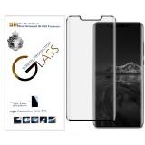 Защитное стекло 3D Lion Glass (High Aluminum, Full Glue, 9H, 0.3mm) для Huawei Mate 20 Pro (Черное)
