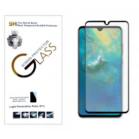 Защитное стекло 5D Silk print Lion Glass Full Screen (High Aluminum, Full Glue, 9H, 0.3mm) для Huawei Mate 20 (Черное)