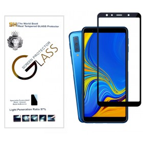 Защитное стекло 5D Silk print Lion Glass Full Screen (High Aluminum, Full Glue, 9H, 0.3mm) для Samsung Galaxy A7 2018 (A750) (Черное)