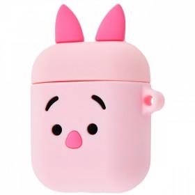 Силиконовый чехол Silicone Case для AirPods MMEF2, MV7N2, MRXJ2 (Soft Funny Pink Pig)