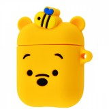 Силиконовый чехол Silicone Case для AirPods MMEF2, MV7N2, MRXJ2 (Soft Funny Winnie the Pooh)