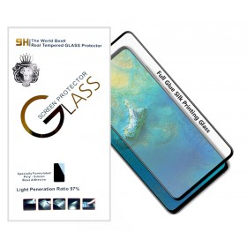 Защитное стекло 5D Silk print Lion Glass Full Screen (High Aluminum, Full Glue, 9H, 0.3mm) для Huawei P Smart Z | Y9 Prime 2019 (Черное)