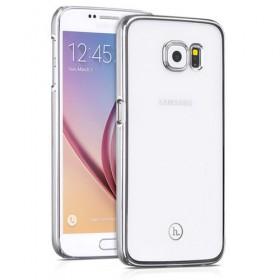 Чехол накладка HOCO Defender series для Samsung Galaxy S6 (Прозрачная / Серебро)