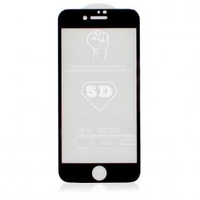Защитная пленка Стекло 5D Strong 0.26mm для iPhone 8 Plus/7 Plus (Black)