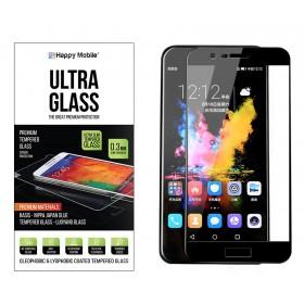 Защитное стекло для Huawei Honor V9 (Черное) - Happy Mobile 2.5D Full Screen