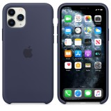 Оригинальный чехол Apple Silicone Case для iPhone 11 Pro Max (Midnight Blue) (OEM)