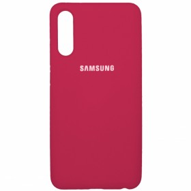 Чехол Silicone Cover FULL for Samsung Galaxy A50 / A50s / A30s (Original Soft Case Hot Pink)