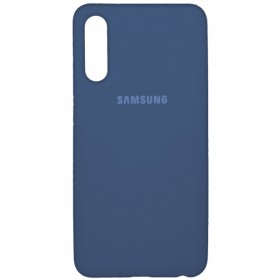 Чехол Silicone Cover FULL for Samsung Galaxy A50 / A50s / A30s (Original Soft Case Navy Blue)