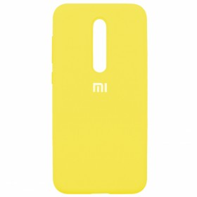 Чехол Silicone Cover FULL for Xiaomi Mi 9T / Pro / K20 (Original Soft Yellow)