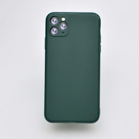 Чехол-накладка Simple Slim Matte Camera Protection для iPhone 11 Pro Max (Dark Green)