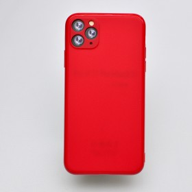 Чехол-накладка Simple Slim Matte Camera Protection для iPhone 11 Pro (Red)