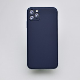 Чехол-накладка Simple Slim Matte Camera Protection для iPhone 11 (Dark Blue)