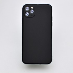 Чехол-накладка Simple Slim Matte Camera Protection для iPhone 11 Pro Max (Black)
