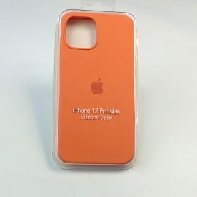 Чехол для iPhone 12 / 12 Pro - Full Soft Silicone Case (Clementine (Orange))