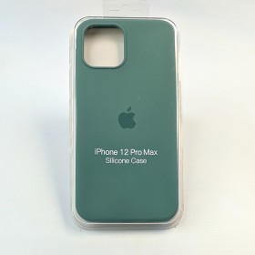 Чехол для iPhone 12 Pro Max - Full Soft Silicone Case (Pine Green)