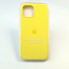 Чехол для iPhone 12 Pro Max - Full Soft Silicone Case (Yellow)