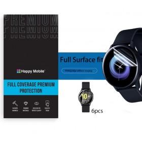 Защитная пленка гидрогель для Samsung Galaxy Watch Active 2 Aluminium 44mm - Happy Mobile 3D Curved TPU Film (6шт.) (Devia Korea TOP Hydrogel Material)