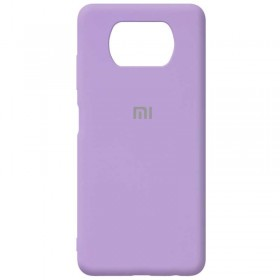 Чехол Silicone Cover FULL for Xiaomi Poco X3 (Original Soft Case Lilac)