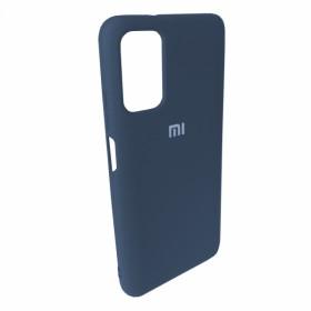 Чехол Silicone Cover FULL for Xiaomi Poco M3 (Original Soft Case Navy Blue)