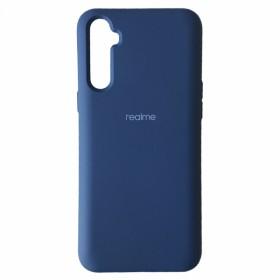 Чехол Silicone Cover FULL for Realme 6 (Original Soft Case Navy Blue)