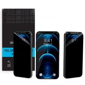 Анти-шпион защитная пленка гидрогель для iPhone SE 2020 - Happy Mobile 3D Privacy (Devia Korea TOP Hydrogel Material стекло)