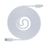 Кабель Lightning to Type-C DEVIA Smart Series PD 20W 1M 3A White iPhone 12 13 iPad
