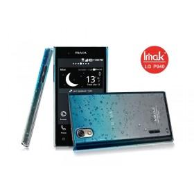 Чехол для LG Prada 3.0 (IMAK Raindrop -blue) + защитная плёнка