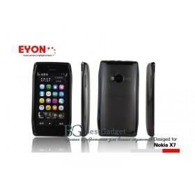 Чехол для Nokia X7 (2в1 Eyon black) + защитная плёнка