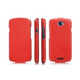 Кожаный чехол для HTC One S Z320e (ICareR red flip)
