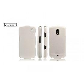 Кожаный чехол для Samsung i9250 Galaxy Nexus (ICareR white flip)