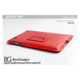 Кожаный чехол для Samsung p6800 Galaxy Tab 7.7 (HOCO Red)