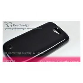 Полимерный TPU чехол NewTop для Samsung Galaxy W I8150 (Glossy black)