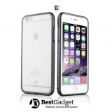 Бампер Baseus Crystal для iPhone 6 (Dark Gray)