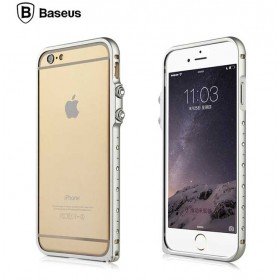 Бампер со стразами Baseus Eternal Series Tiffany Diamond Metal Bumper для iPhone 6 (Серебро)