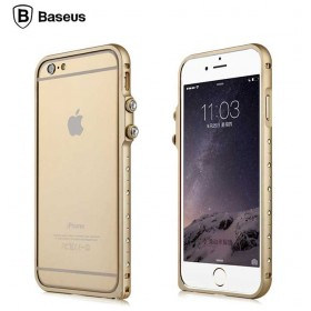 Бампер со стразами Baseus Eternal Series Tiffany Diamond Metal Bumper для iPhone 6 (Золото)