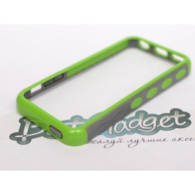 Бампер iLavie для iPhone 5с (Double Injection Green)