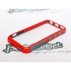 Бампер iLavie для iPhone 5с (Double Injection Red)