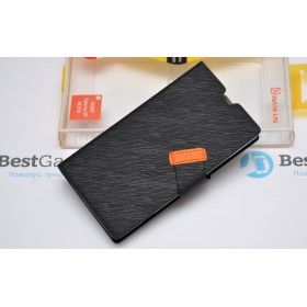 BASEUS! Чехол серии Faith Leather для Sony Xperia SP M35h (Черный)