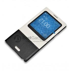 Baseus! Чехол серии Unique Leather для Samsung Galaxy Note 3 N9000 (Черно-белый)