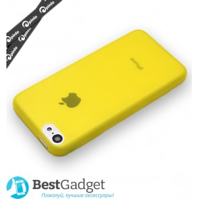 Чехол 0.3mm Pinlo Slice 3 для iPhone 5c (Transparent Yellow) + пленка