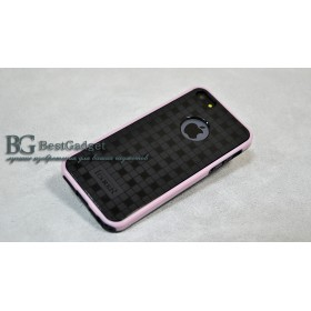 Чехол 2в1 IcareR для iPhone 5 / 5s / SE (Double Dream Color) *Pink