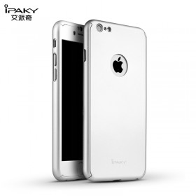 Чехол 3in1 iPaky 360 PC Whole Round для iPhone 6 / 6s + стекло (Silver | With Back Hole)