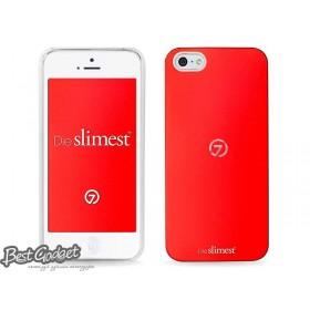 Чехол 7mm DUO:Alu для iPhone 5/5s (White(P) Red)