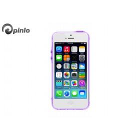 Чехол бампер Pinlo BLADEdge Aroma для iPhone 5/5S (Transparent Purple Lavendar)